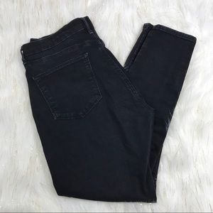 Topshop Moto Sidney Cropped High Waisted Jeans